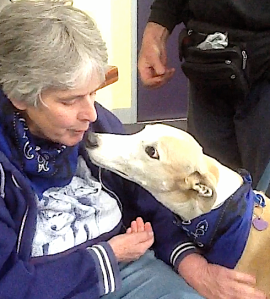 Kaye and Razza, from the Dogs and Psychotherapy class, 2012